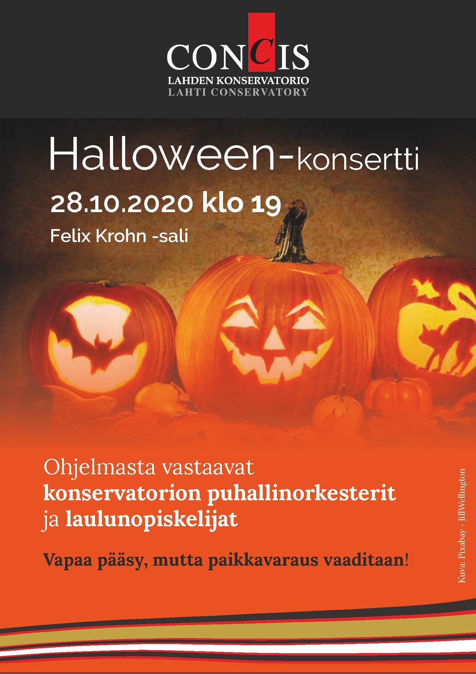 Halloween-konsertin juliste.