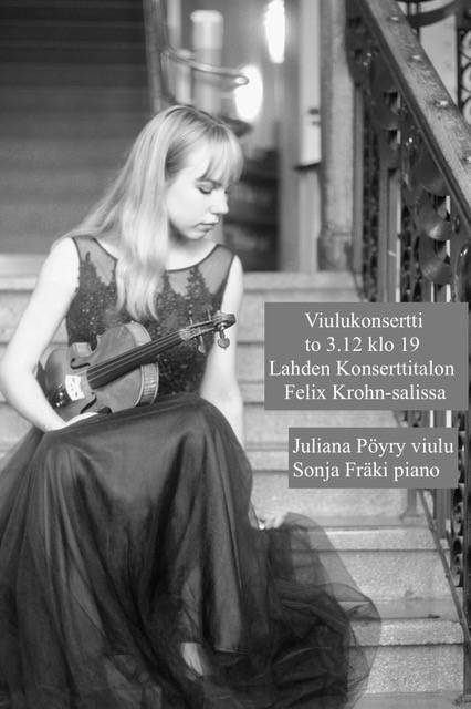 Viulukonsertin juliste
