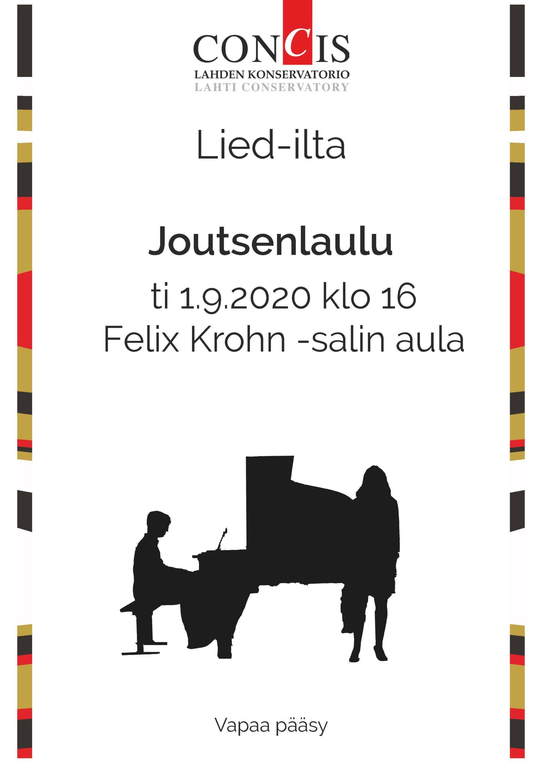 Konserttijuliste Lied-ilta 1.9.2020